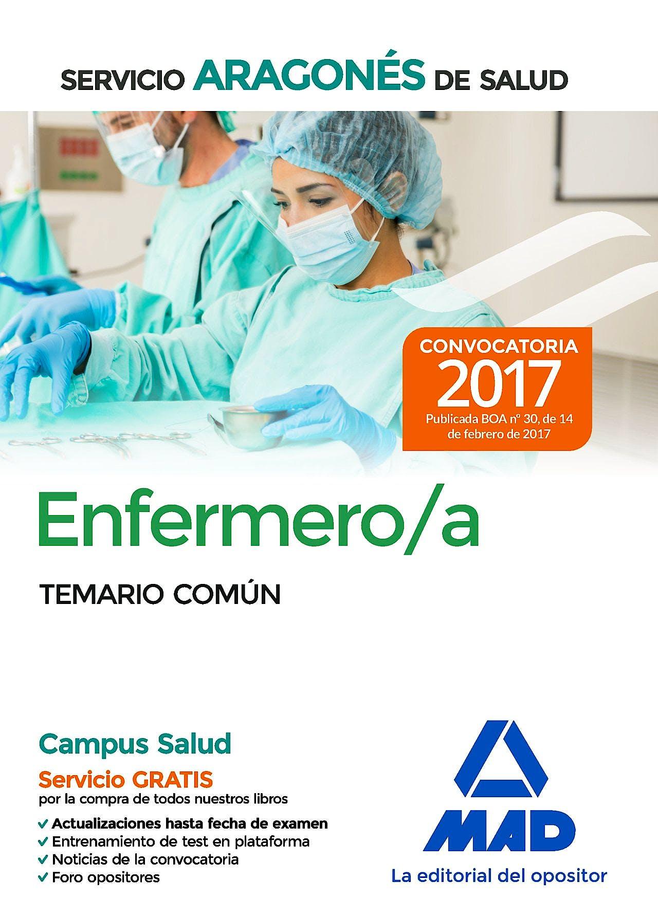 Portada del libro 9788414204634 Enfermero/a Servicio Aragonés de Salud. Temario Común