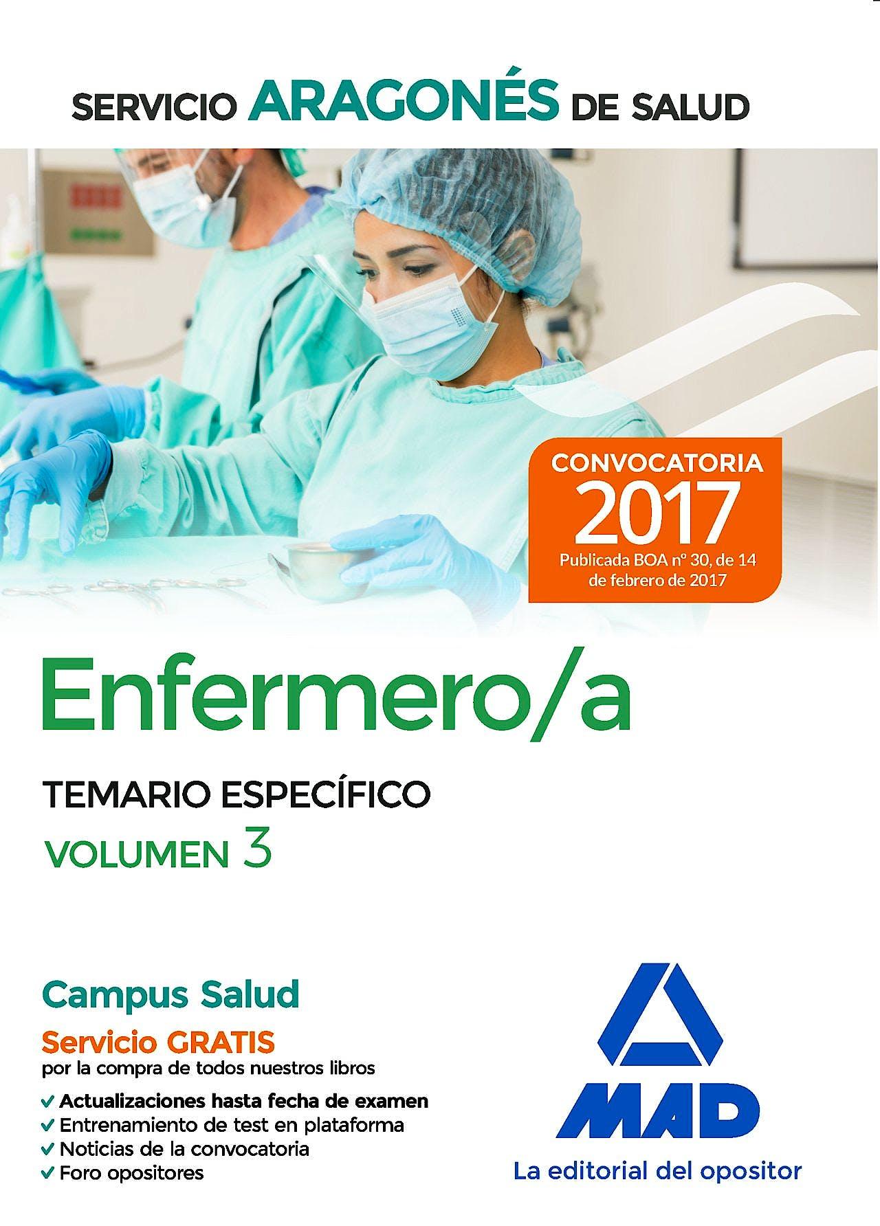 Portada del libro 9788414206546 Enfermero/a Servicio Aragonés de Salud. Temario Específico, Vol. 3