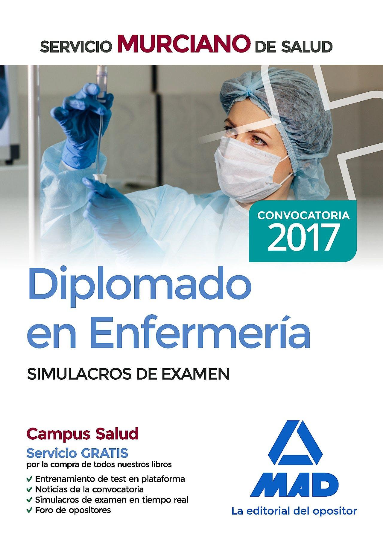 Portada del libro 9788414207680 Diplomado en Enfermería Servicio Murciano de Salud. Simulacros de Examen