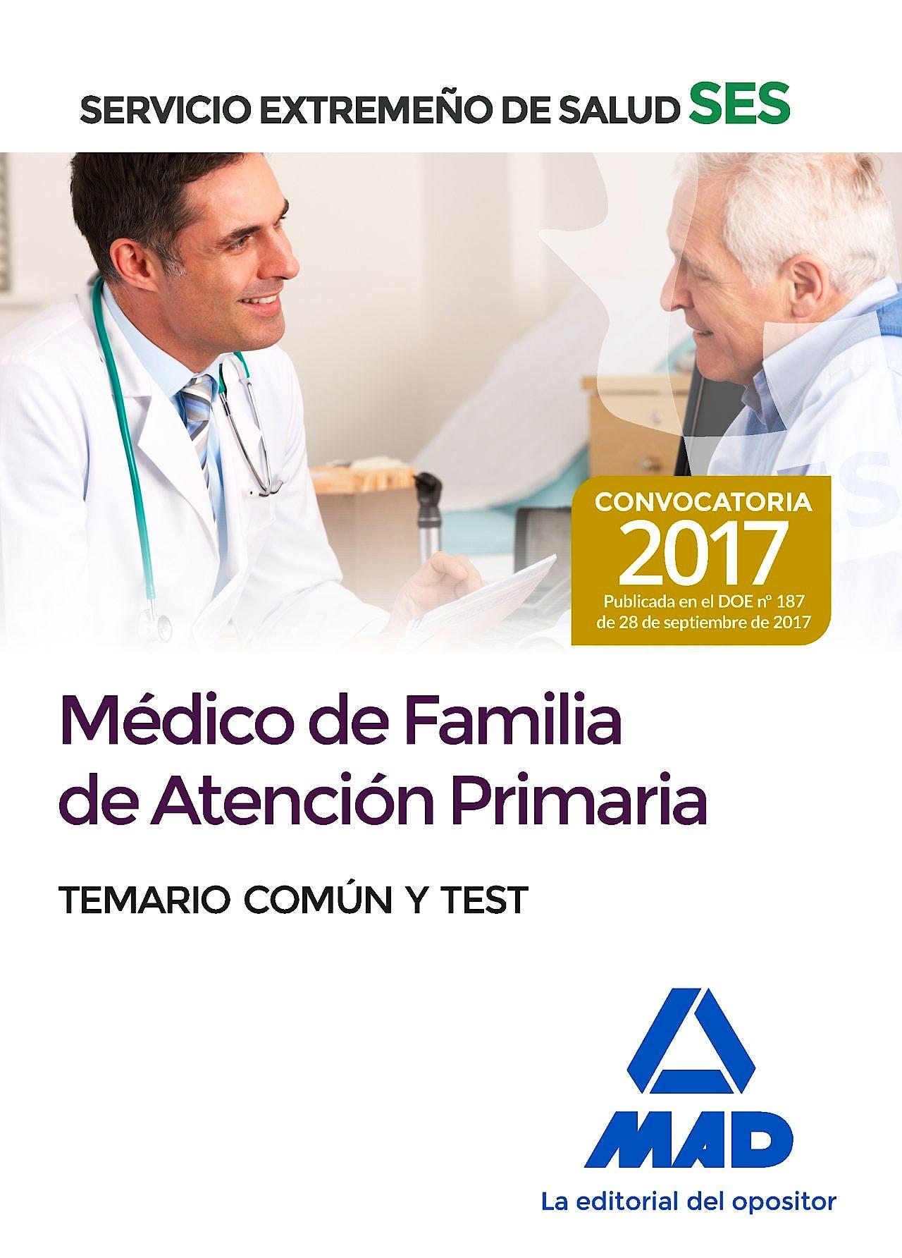 Portada del libro 9788414210819 Médico de Familia de Atención Primaria Servicio Extremeño de Salud (SES). Temario Común y Test