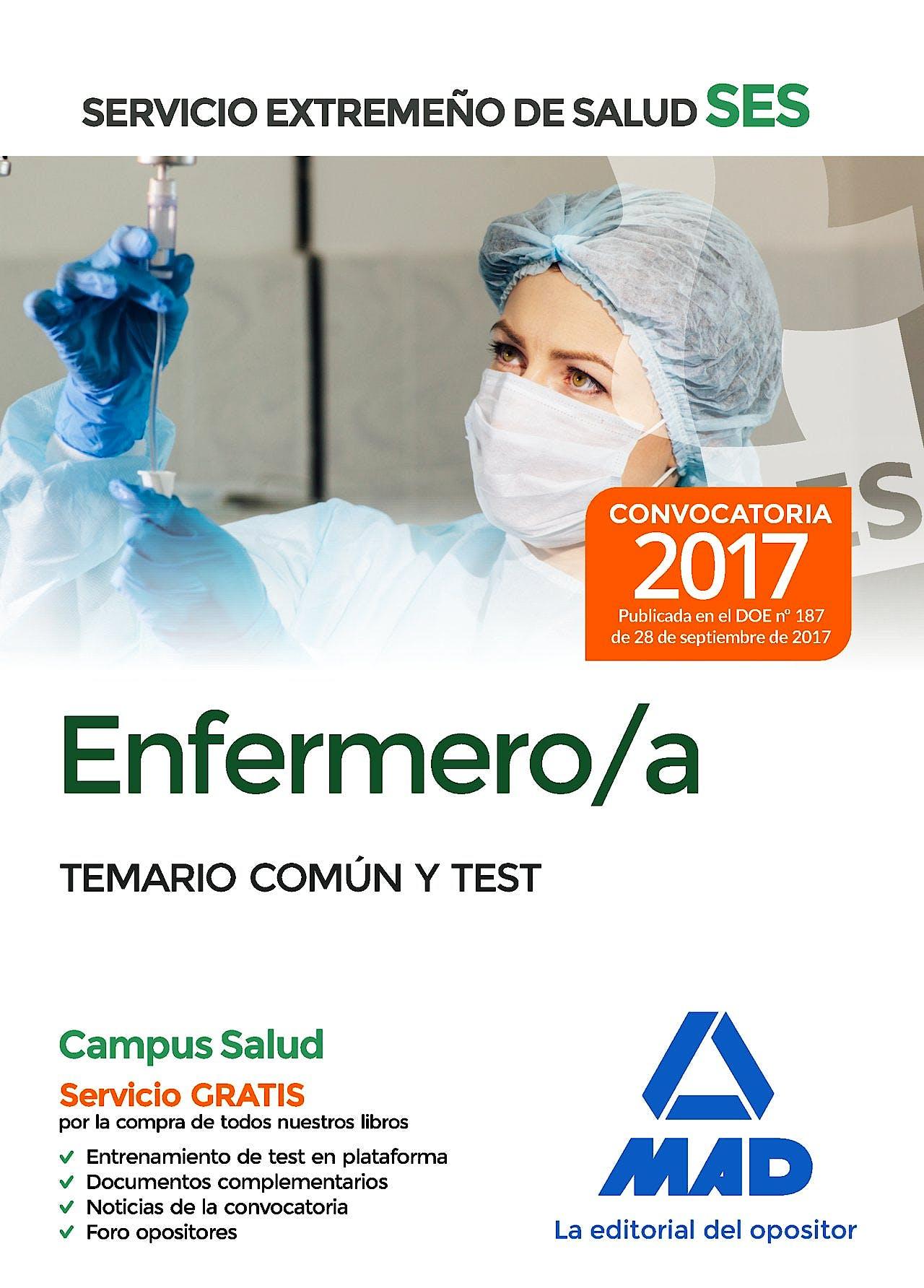 Portada del libro 9788414210826 Enfermero/a del Servicio Extremeño de Salud (SES). Temario Común y Test