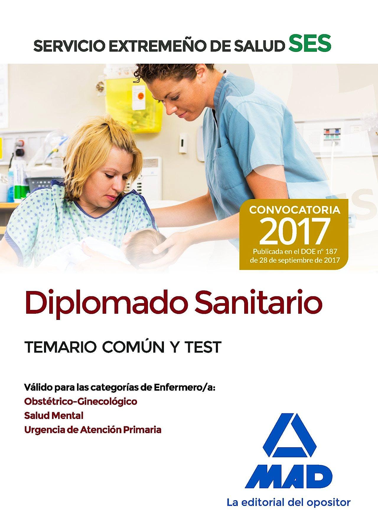 Portada del libro 9788414210864 Diplomado Sanitario Servicio Extremeño de Salud (SES). Temario Común y Test