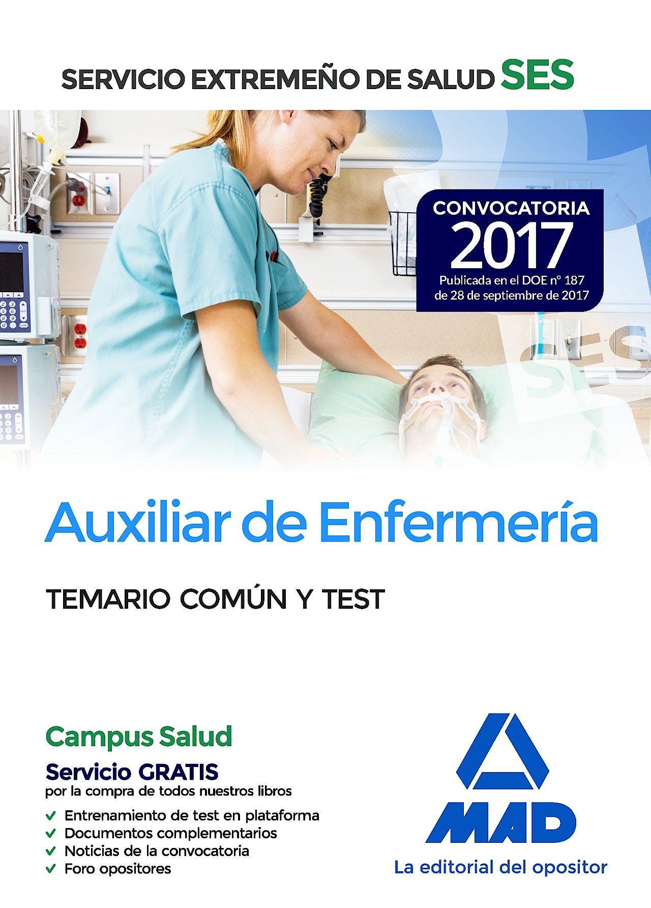 Portada del libro 9788414210888 Auxiliar de Enfermería Servicio Extremeño de Salud (SES). Temario Común y Test