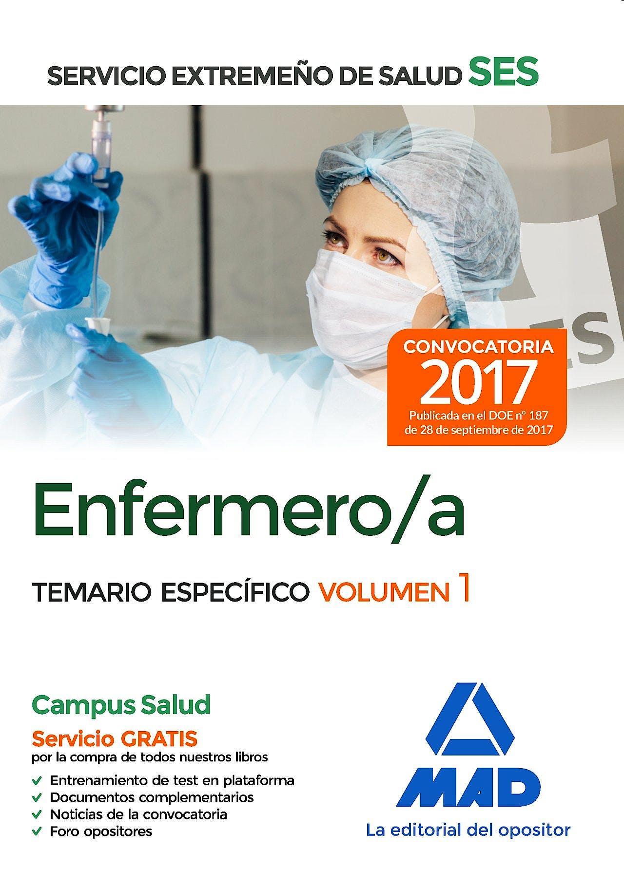 Portada del libro 9788414211007 Enfermero/a Servicio Extremeño de Salud (SES). Temario Específico, Vol. 1