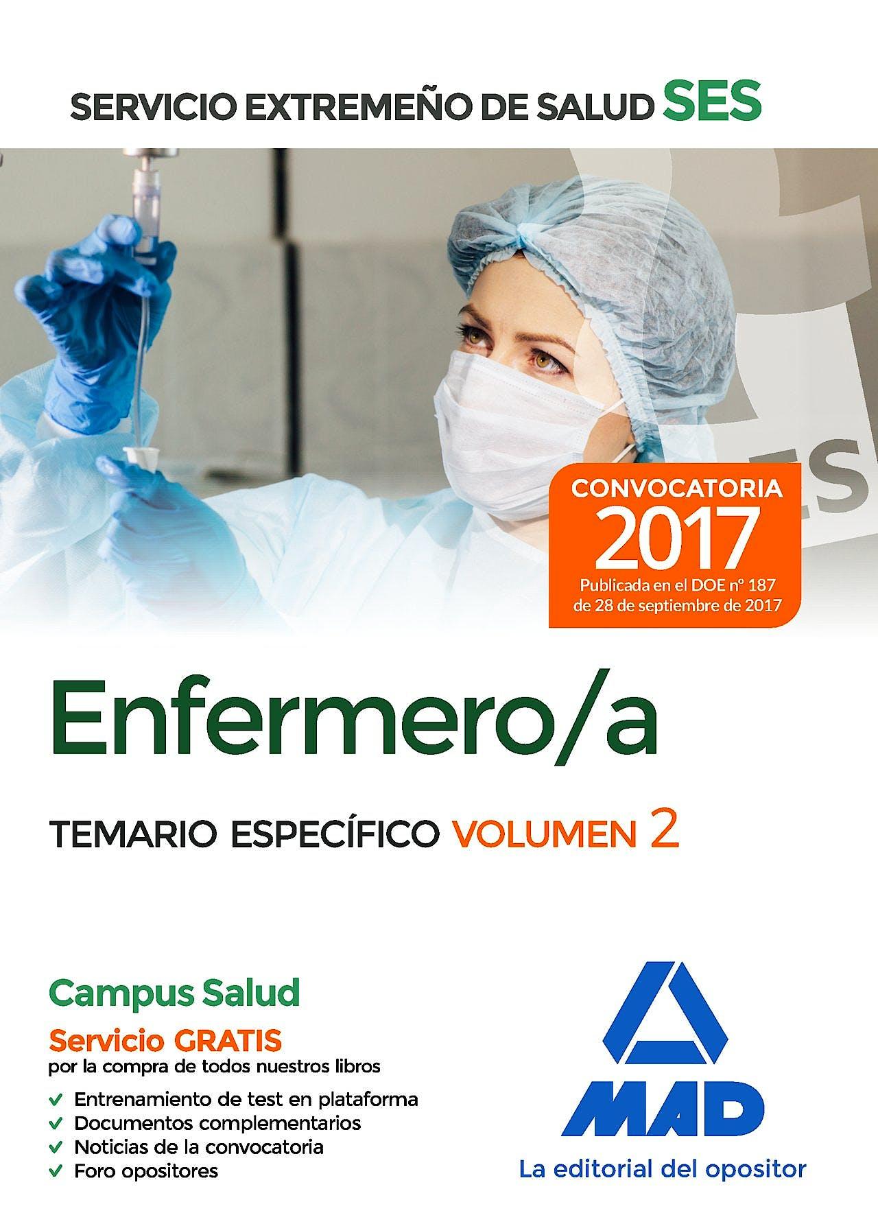 Portada del libro 9788414211014 Enfermero/a Servicio Extremeño de Salud (SES). Temario Específico, Vol. 2