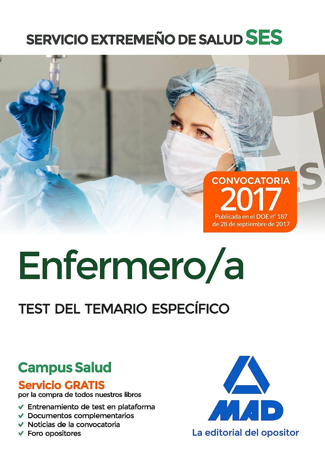 Portada del libro 9788414211045 Enfermero/a Servicio Extremeño de Salud (SES). Test del Temario Específico