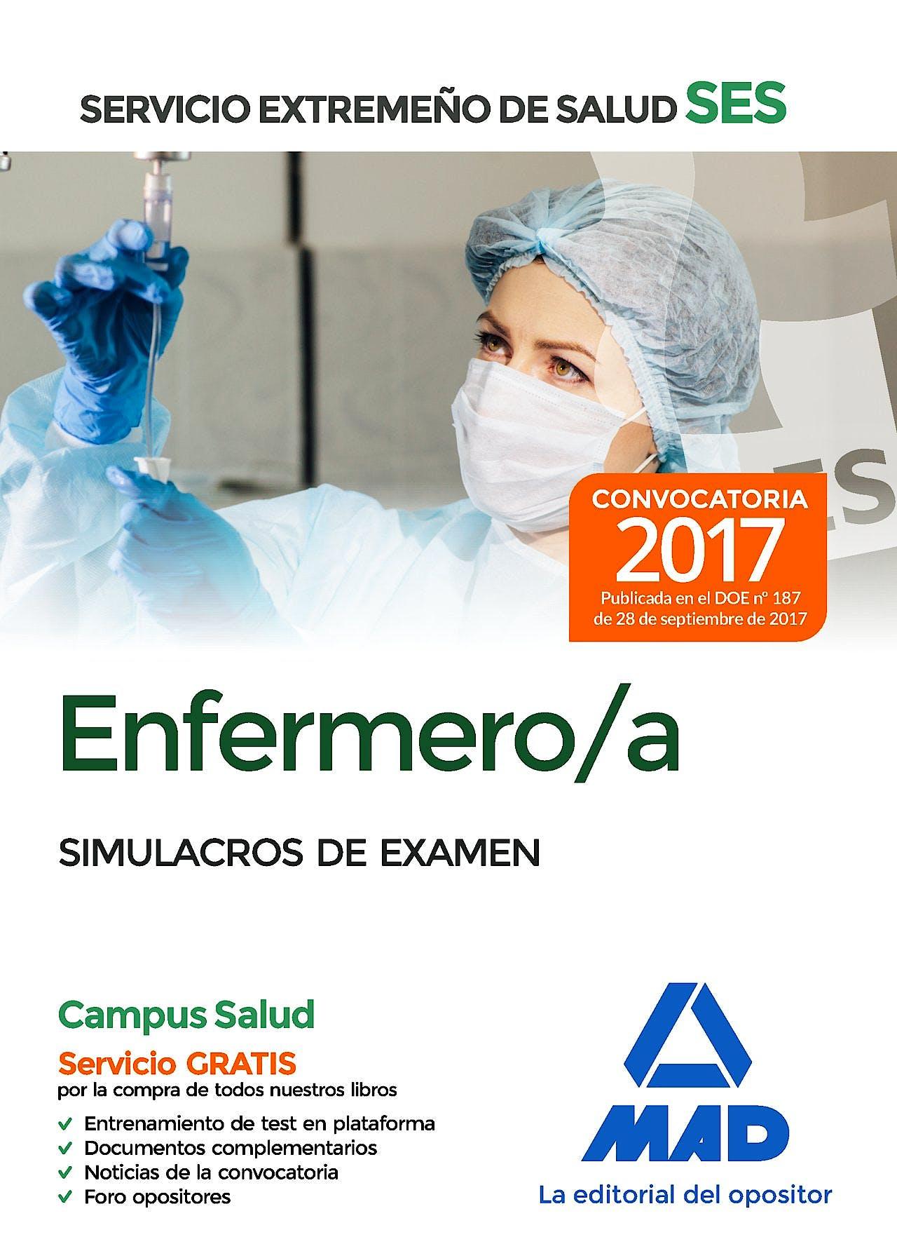 Portada del libro 9788414211052 Enfermero/a Servicio Extremeño de Salud (SES). Simulacros de Examen