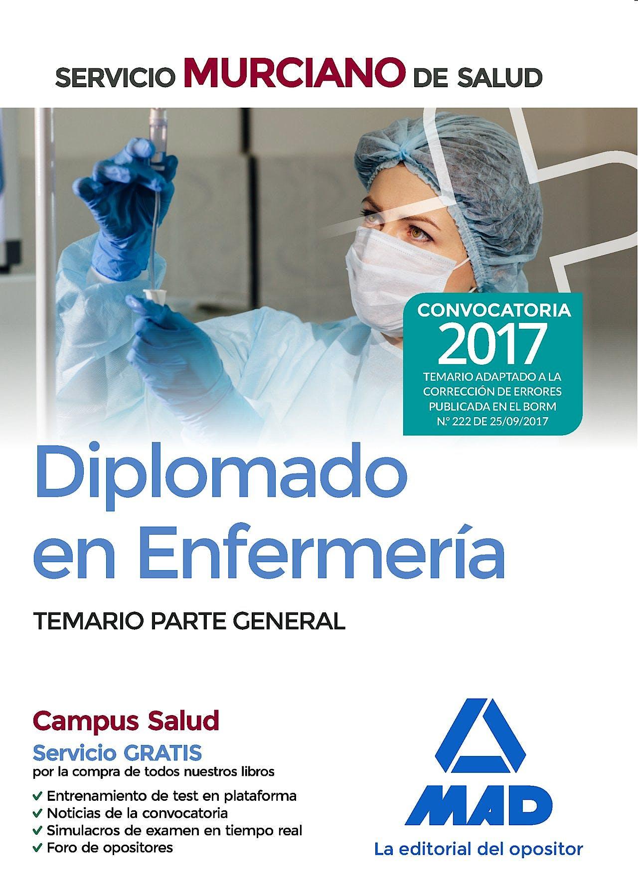 Portada del libro 9788414211632 Diplomado en Enfermería Servicio Murciano de Salud. Temario Parte General