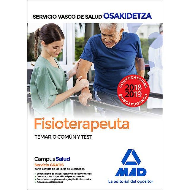 Portada del libro 9788414215647 Fisioterapeuta Servicio Vasco de Salud (OSAKIDETZA). Temario Común y Test