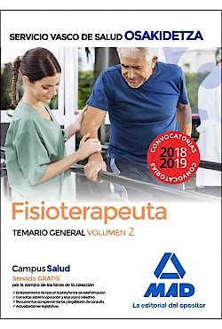 Portada del libro 9788414215838 Fisioterapeuta Servicio Vasco de Salud (OSAKIDETZA). Temario General, Vol. 2