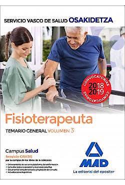 Portada del libro 9788414215845 Fisioterapeuta Servicio Vasco de Salud (OSAKIDETZA). Temario General, Vol. 3
