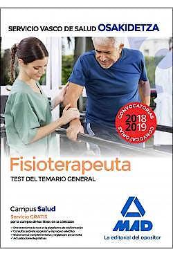 Portada del libro 9788414216224 Fisioterapeuta Servicio Vasco de Salud (OSAKIDETZA). Test del Temario General