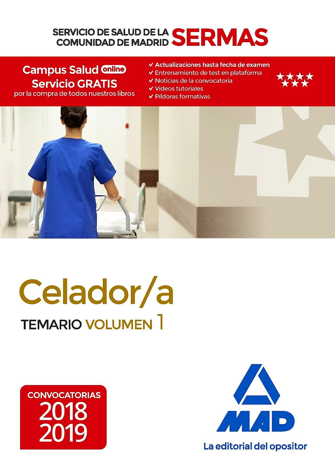 Portada del libro 9788414216910 Celador/a Servicio de Salud de la Comunidad de Madrid (SERMAS). Temario, Vol. 1