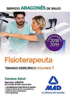 Portada del libro 9788414217979 Fisioterapeuta Servicio Aragonés de Salud. Temario Específico, Vol. 1