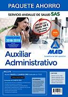 Portada del libro 9788414218068 Paquete Ahorro Auxiliar Administrativo Servicio Andaluz de Salud (SAS) (Total 5 libros e Incluye Acceso a Campus Oro)