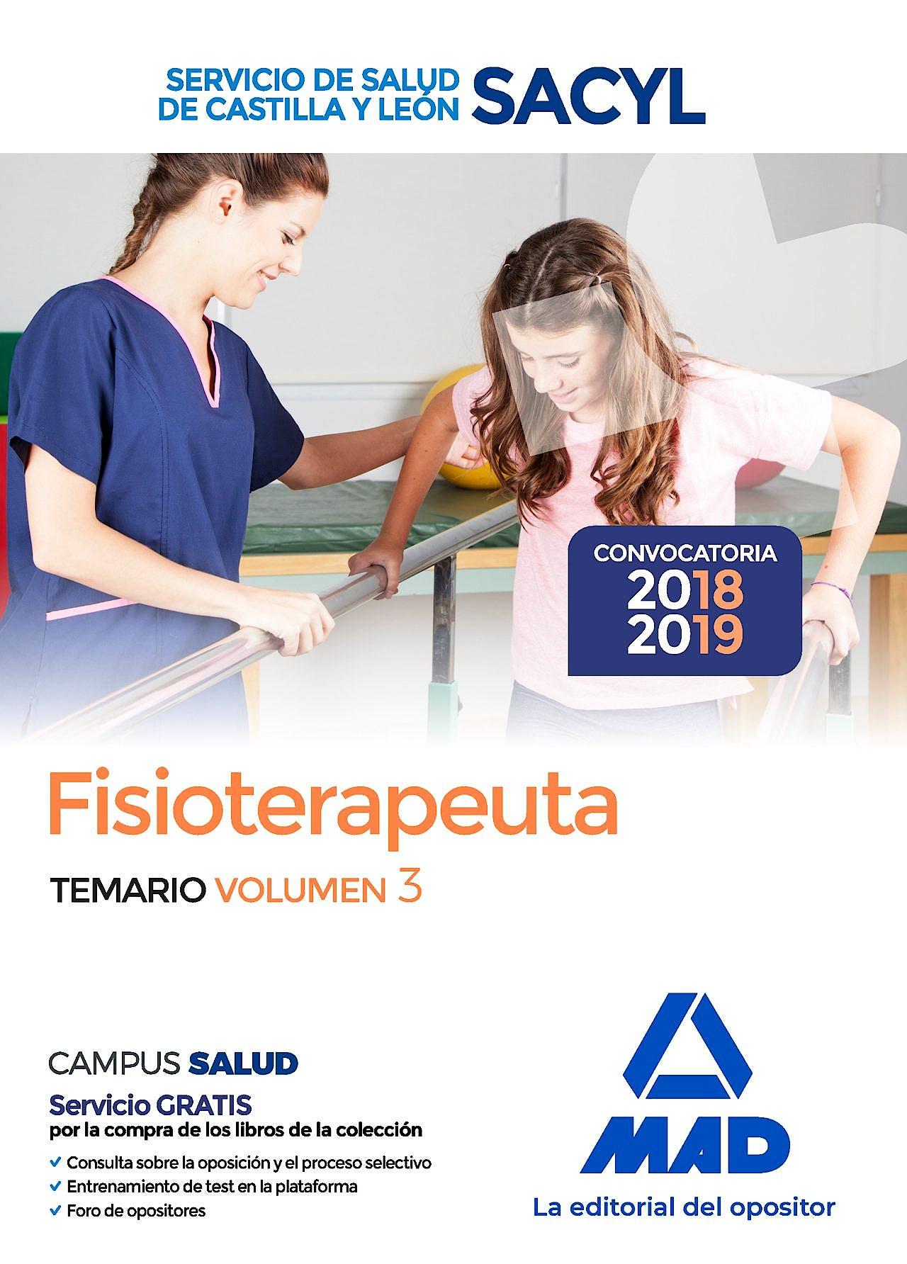 Portada del libro 9788414218303 Fisioterapeuta del Servicio de Salud de Castilla y León (SACYL). Temario, Vol. 3