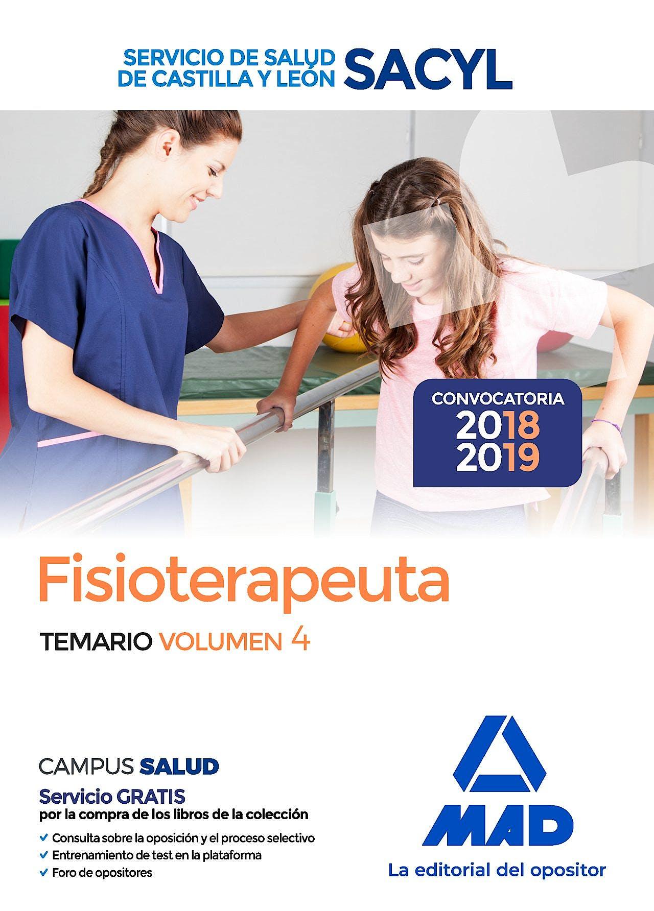 Portada del libro 9788414218310 Fisioterapeuta del Servicio de Salud de Castilla y León (SACYL). Temario, Vol. 4