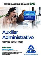 Portada del libro 9788414219188 Auxiliar Administrativo Servicio Andaluz de Salud (SAS). Temario Común y Test
