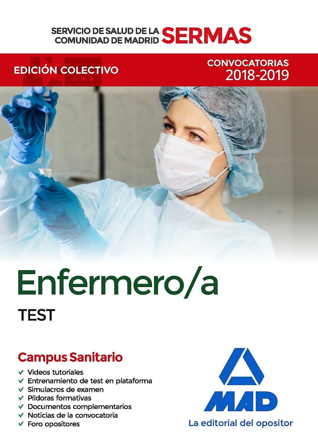 Portada del libro 9788414219263 Enfermero/a Servicio de Salud de la Comunidad de Madrid (SERMAS). Test
