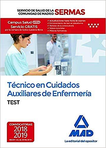 Portada del libro 9788414219287 Técnico en Cuidados Auxiliares de Enfermería Servicio de Salud de la Comunidad de Madrid (SERMAS). Test
