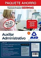 Portada del libro 9788414219362 Paquete Ahorro Auxiliar Administrativo Servicio de Salud de la Comunidad de Madrid (SERMAS) (Total 5 libros e Incluye Acceso a Campus Oro)