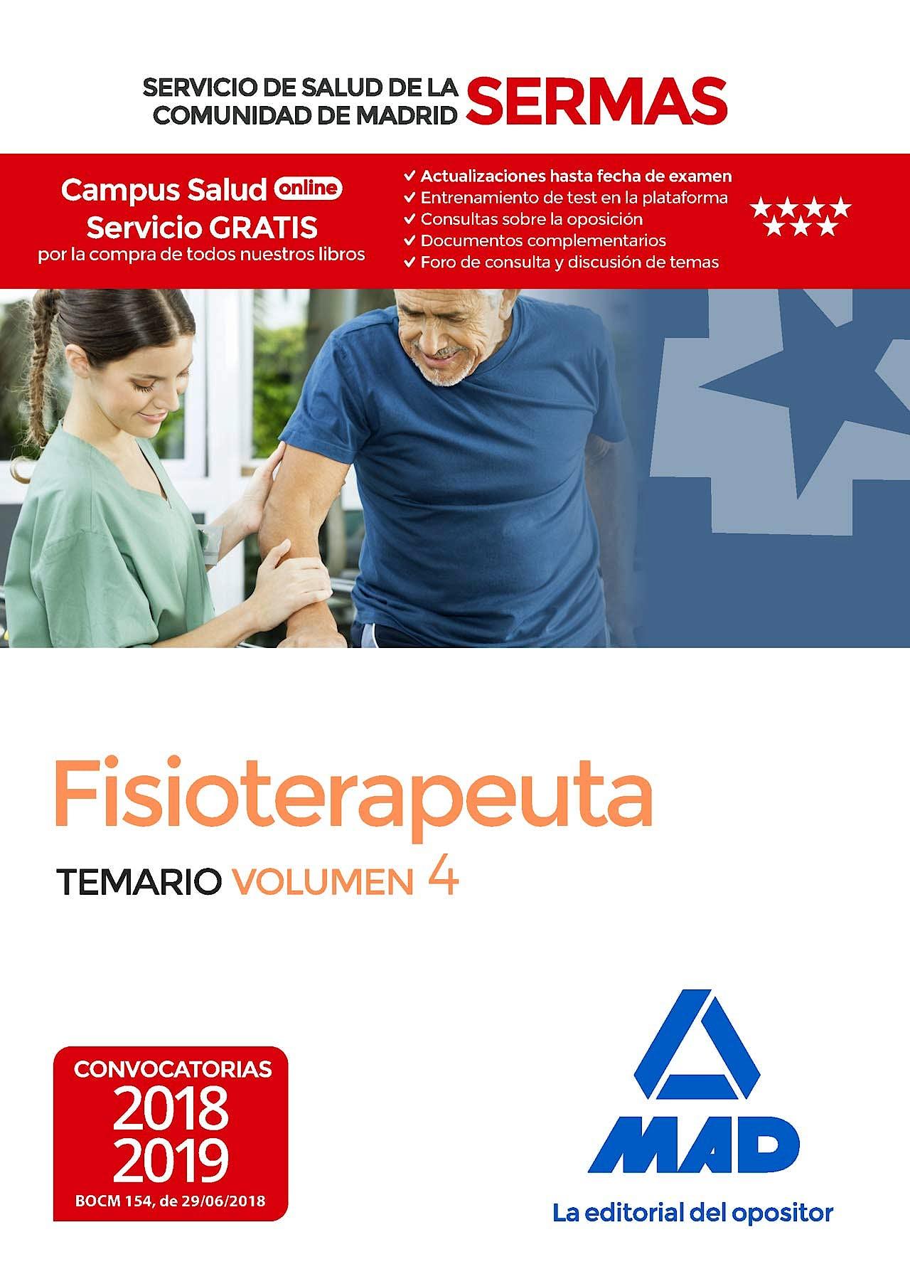 Portada del libro 9788414219584 Fisioterapeuta Servicio de Salud de la Comunidad de Madrid (SERMAS). Temario, Vol. 4