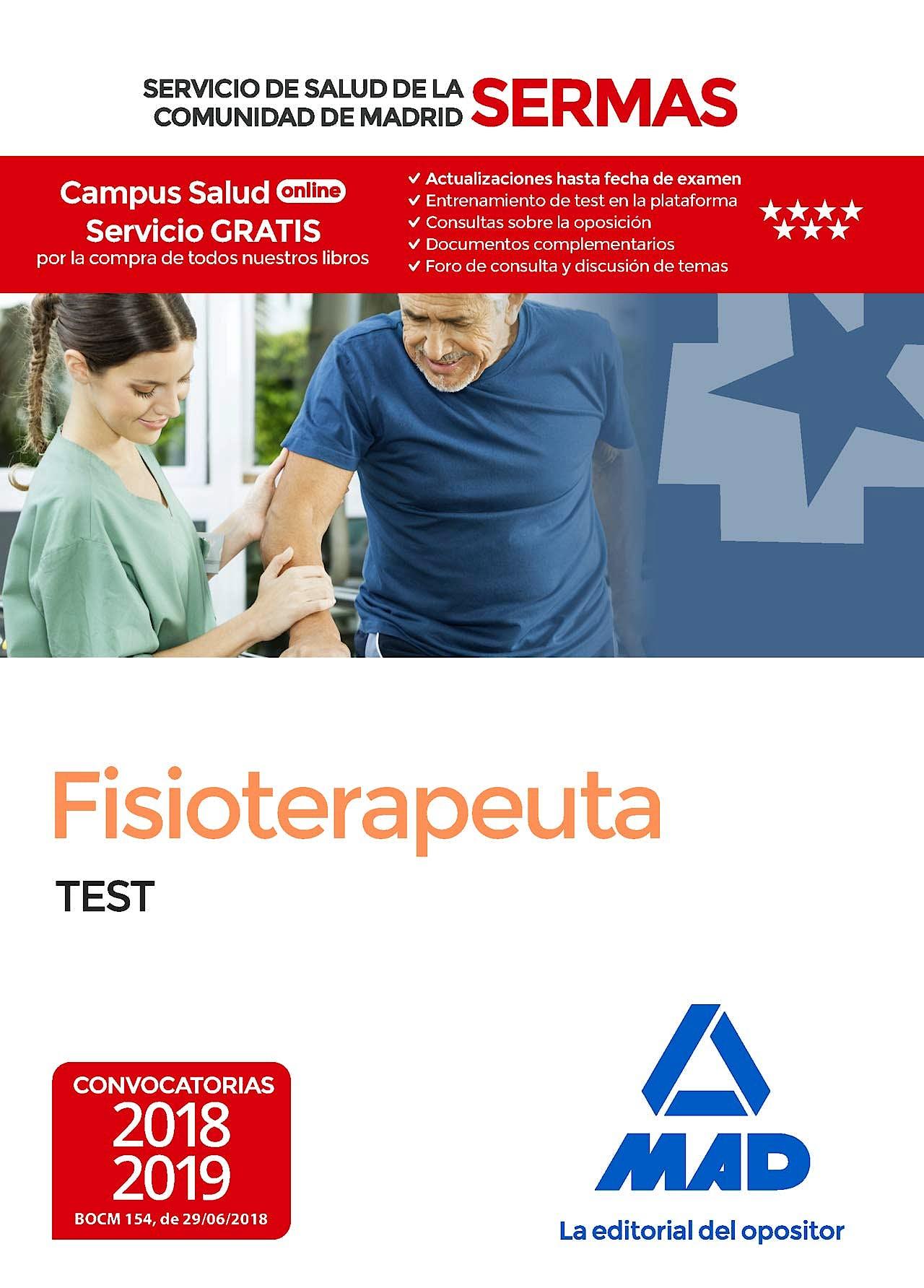 Portada del libro 9788414220115 Fisioterapeuta Servicio de Salud de la Comunidad de Madrid (SERMAS). Test