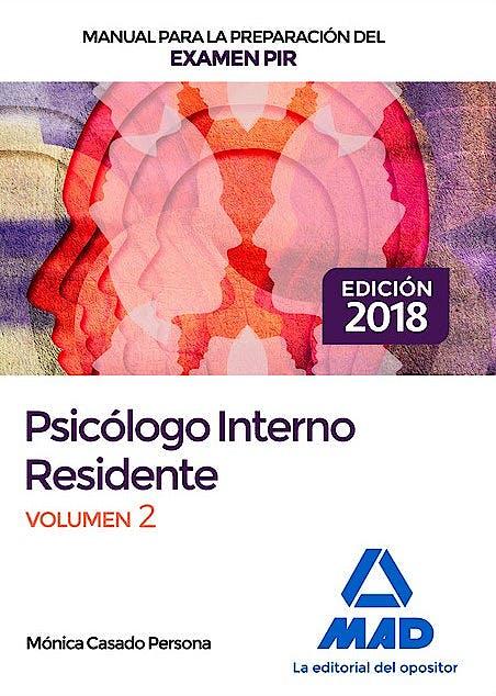Portada del libro 9788414220788 Manual para la Preparación del Examen PIR Psicólogos Internos Residentes, Vol. 2