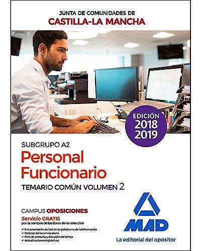 Portada del libro 9788414222515 Personal Funcionario (Subgrupo A2) Junta de Comunidades de Castilla-La Mancha. Temario Común, Vol. 2