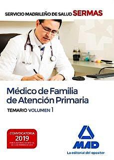 Portada del libro 9788414226025 Médico de Familia de Atención Primaria Servicio Madrileño de Salud (SERMAS). Temario, Vol. 1