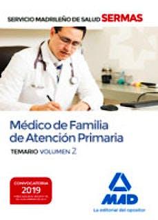 Portada del libro 9788414226032 Médico de Familia de Atención Primaria Servicio Madrileño de Salud (SERMAS). Temario, Vol. 2