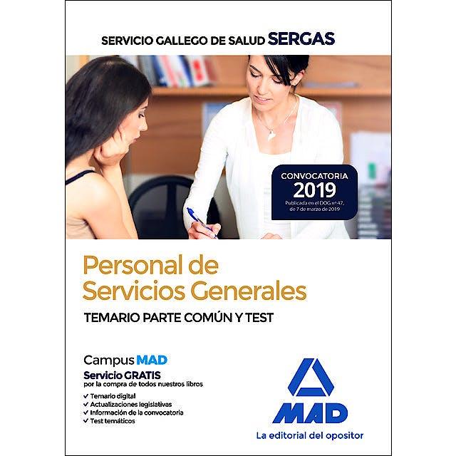 Portada del libro 9788414226759 Personal de Servicios Generales Servicio Gallego de Salud (SERGAS). Temario Parte Común y Test
