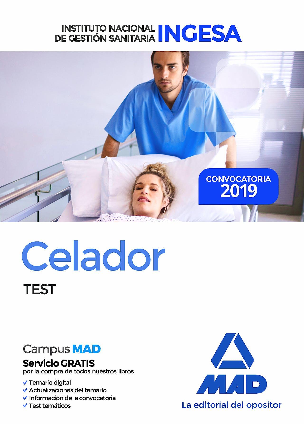 Portada del libro 9788414226803 Celador Instituto Nacional de Gestión Sanitaria (INGESA). Test