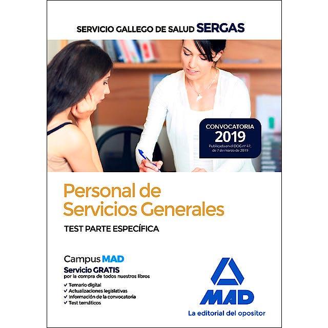 Portada del libro 9788414227084 Personal de Servicios Generales Servicio Gallego de Salud (SERGAS). Test Parte Específica