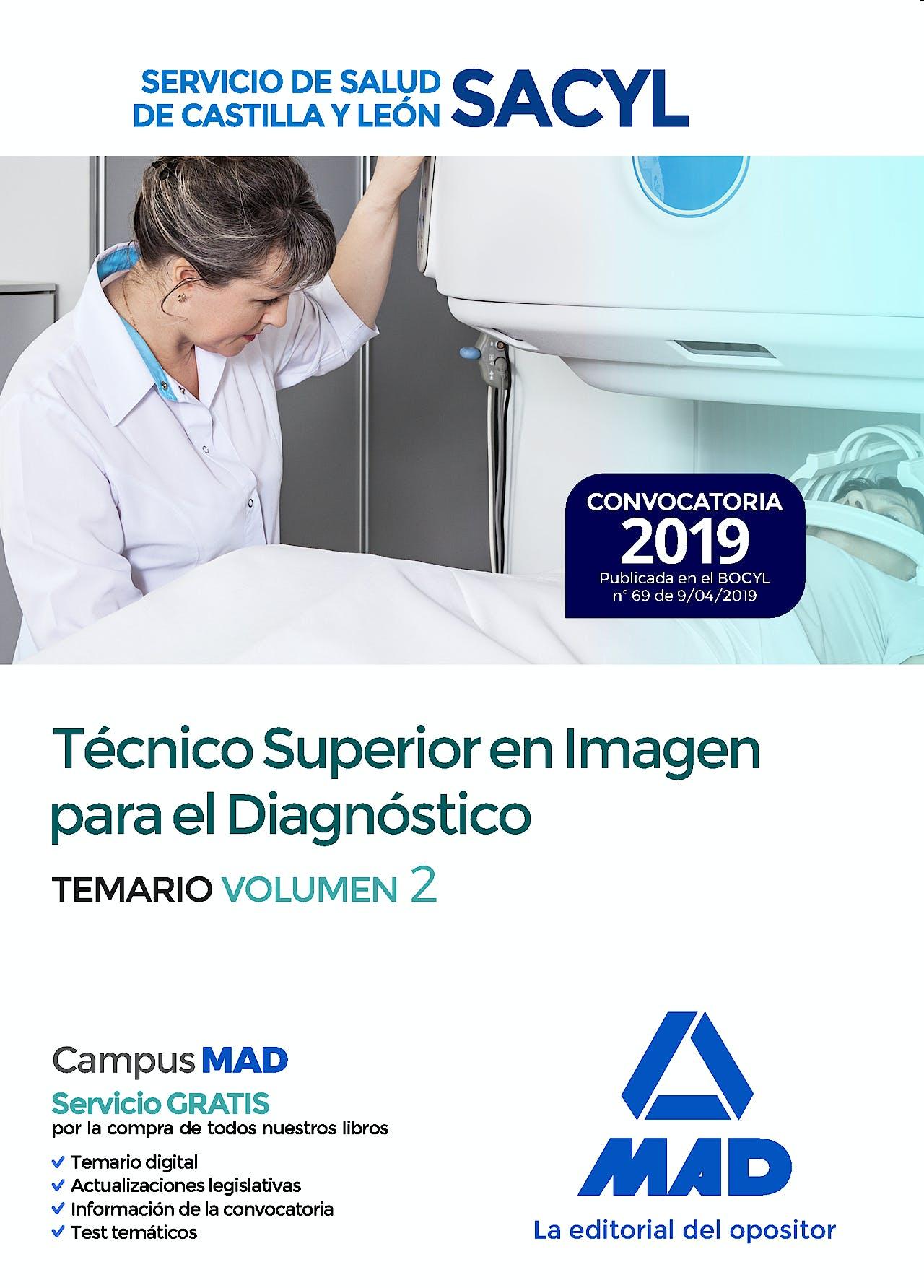 Portada del libro 9788414227442 Técnico Superior en Imagen para el Diagnóstico Servicio de Salud de Castilla y León (SACYL). Temario, Vol. 2