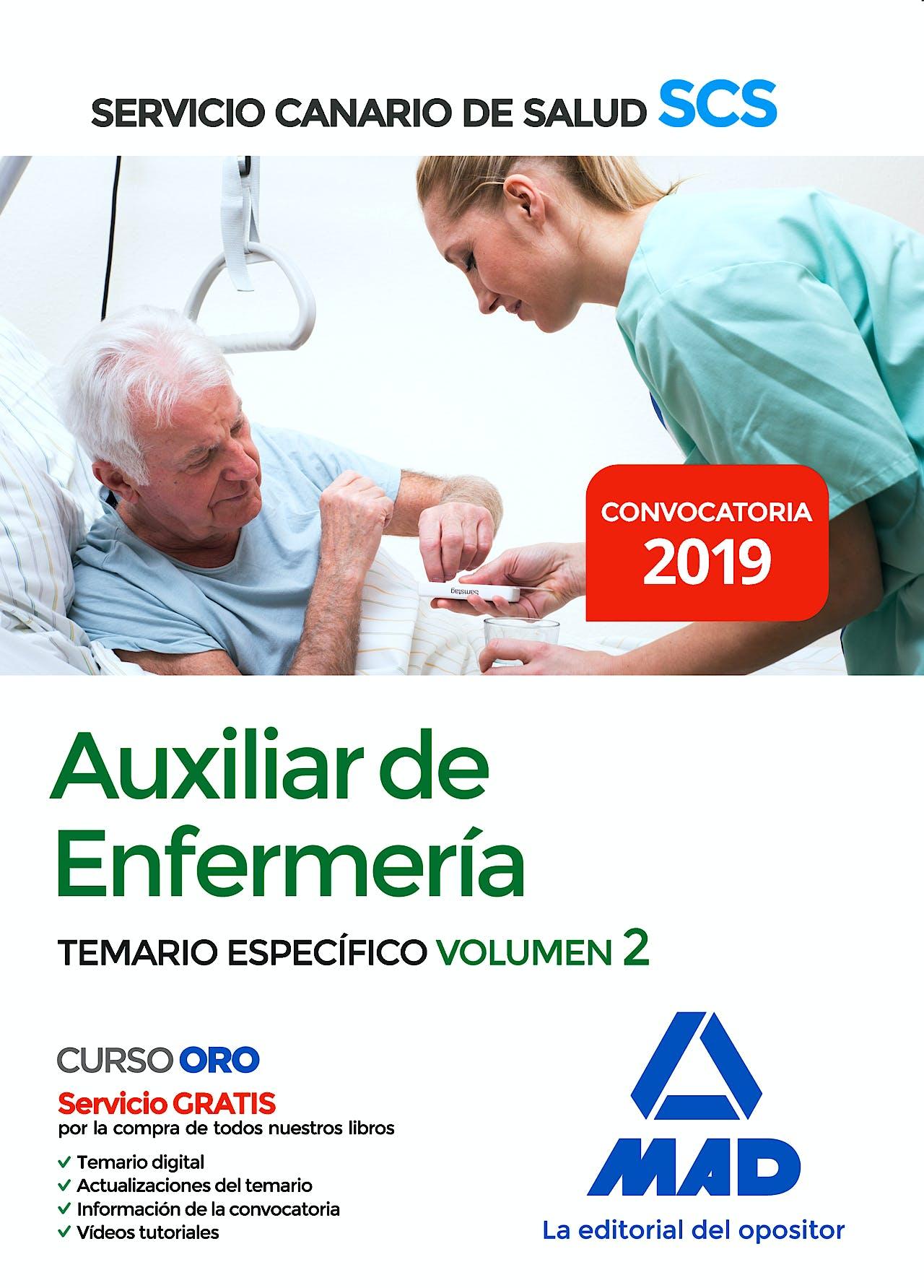Portada del libro 9788414228142 Auxiliar de Enfermería Servicio Canario de Salud (SCS). Temario Específico, Vol. 2
