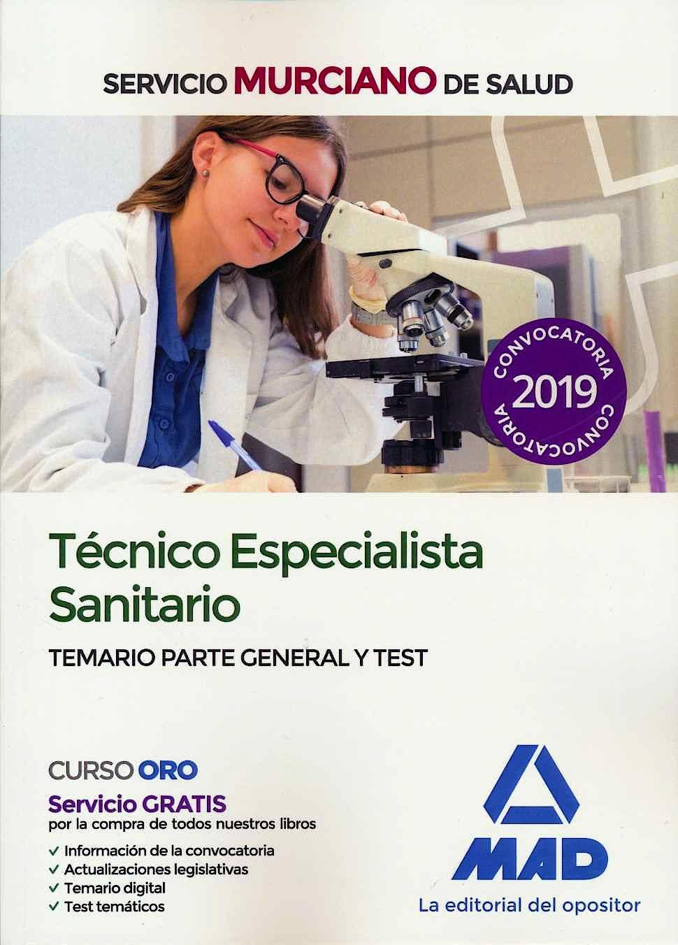 Portada del libro 9788414228517 Técnico Especialista Sanitario Servicio Murciano de Salud. Temario Parte General y Test