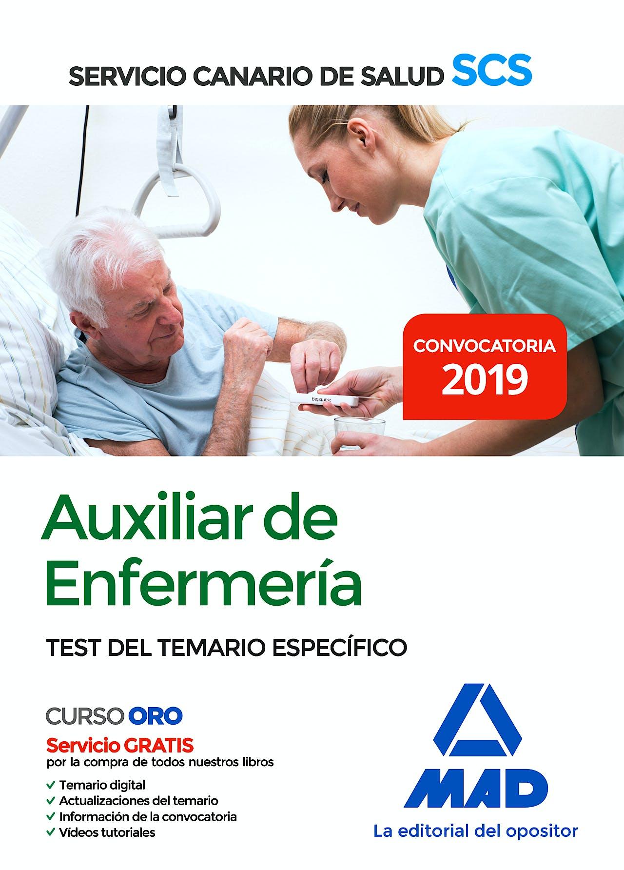 Portada del libro 9788414228593 Auxiliar de Enfermería Servicio Canario de Salud (SCS). Test del Temario Específico