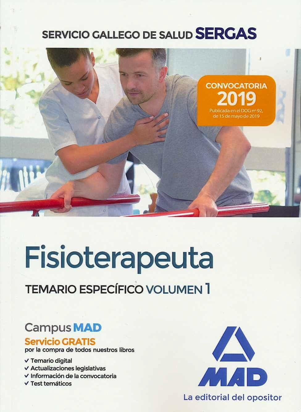 Portada del libro 9788414229057 Fisioterapeuta Servicio Gallego de Salud (SERGAS). Temario Específico,Vol. 1