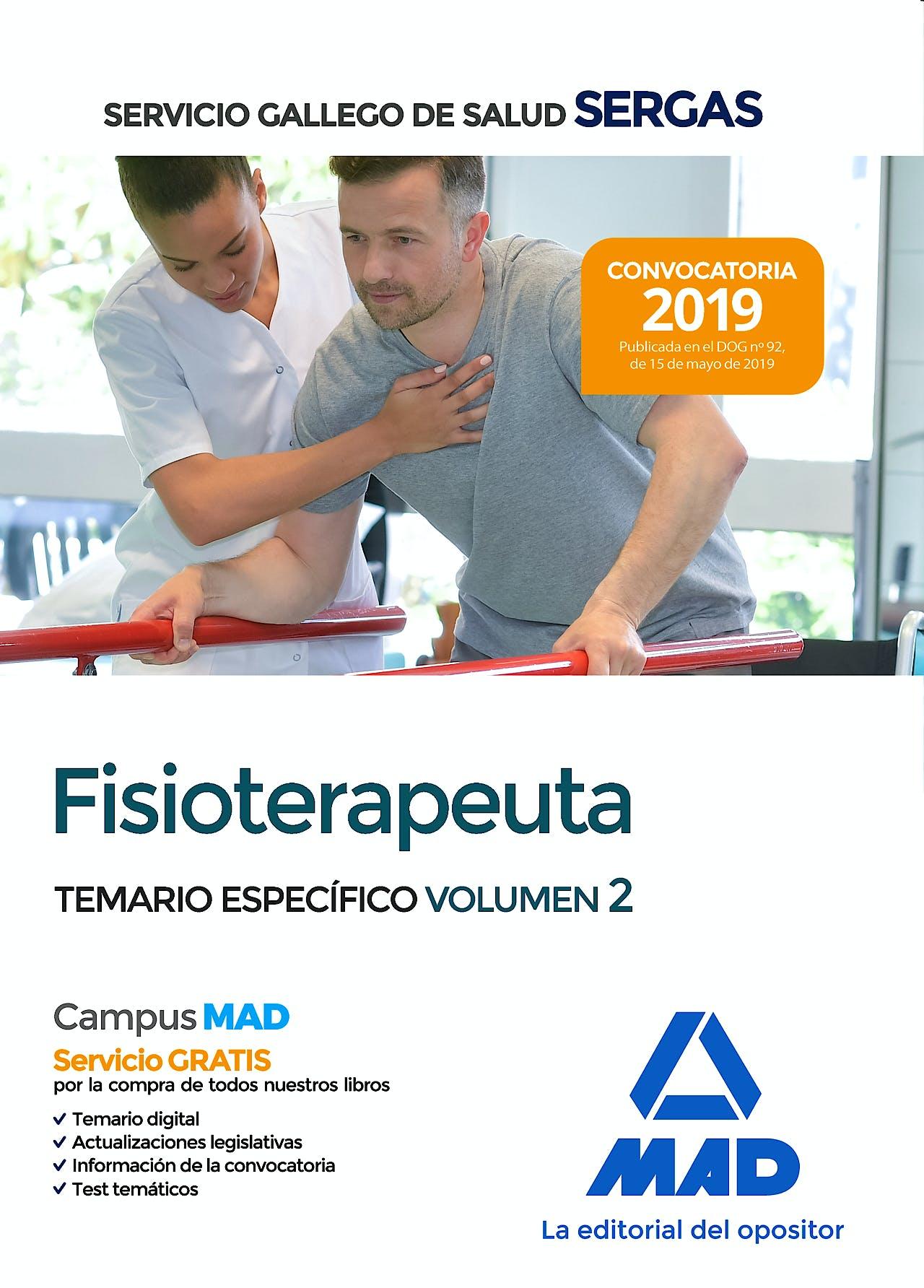 Portada del libro 9788414229064 Fisioterapeuta Servicio Gallego de Salud (SERGAS). Temario Específico, Vol. 2