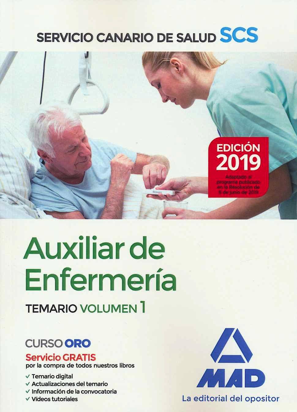 Portada del libro 9788414229453 Auxiliar de Enfermería Servicio Canario de Salud (SCS). Temario, Vol. 1