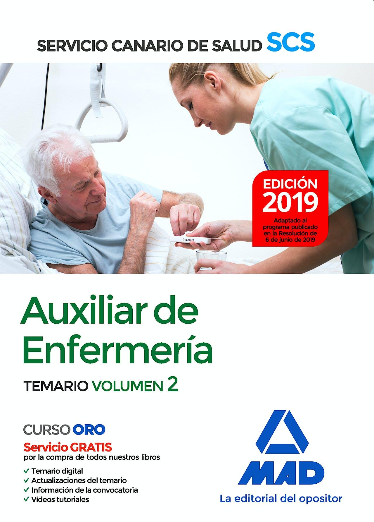 Portada del libro 9788414229460 Auxiliar de Enfermería Servicio Canario de Salud (SCS). Temario, Vol. 2