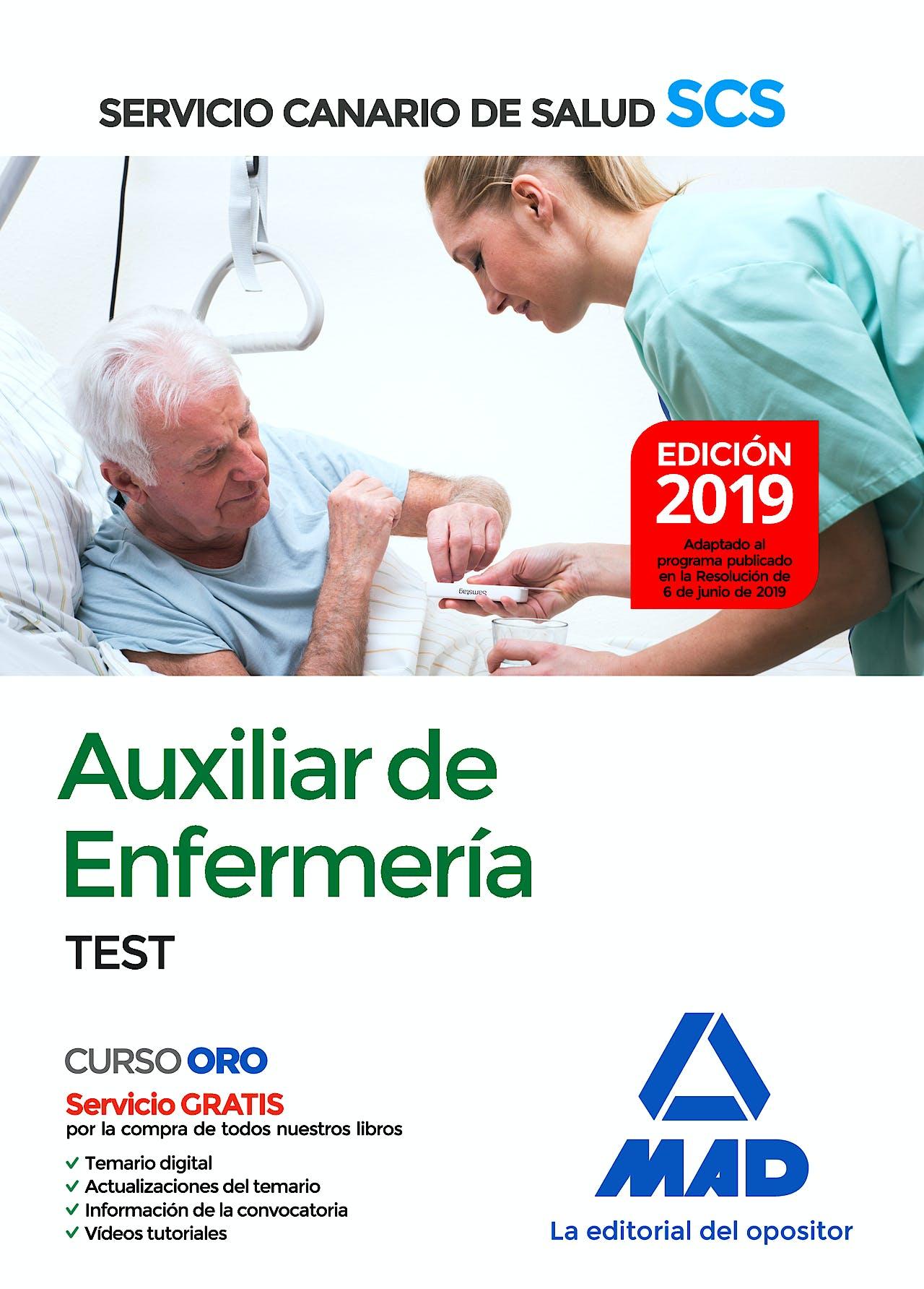 Portada del libro 9788414229484 Auxiliar de Enfermería Servicio Canario de Salud (SCS). Test