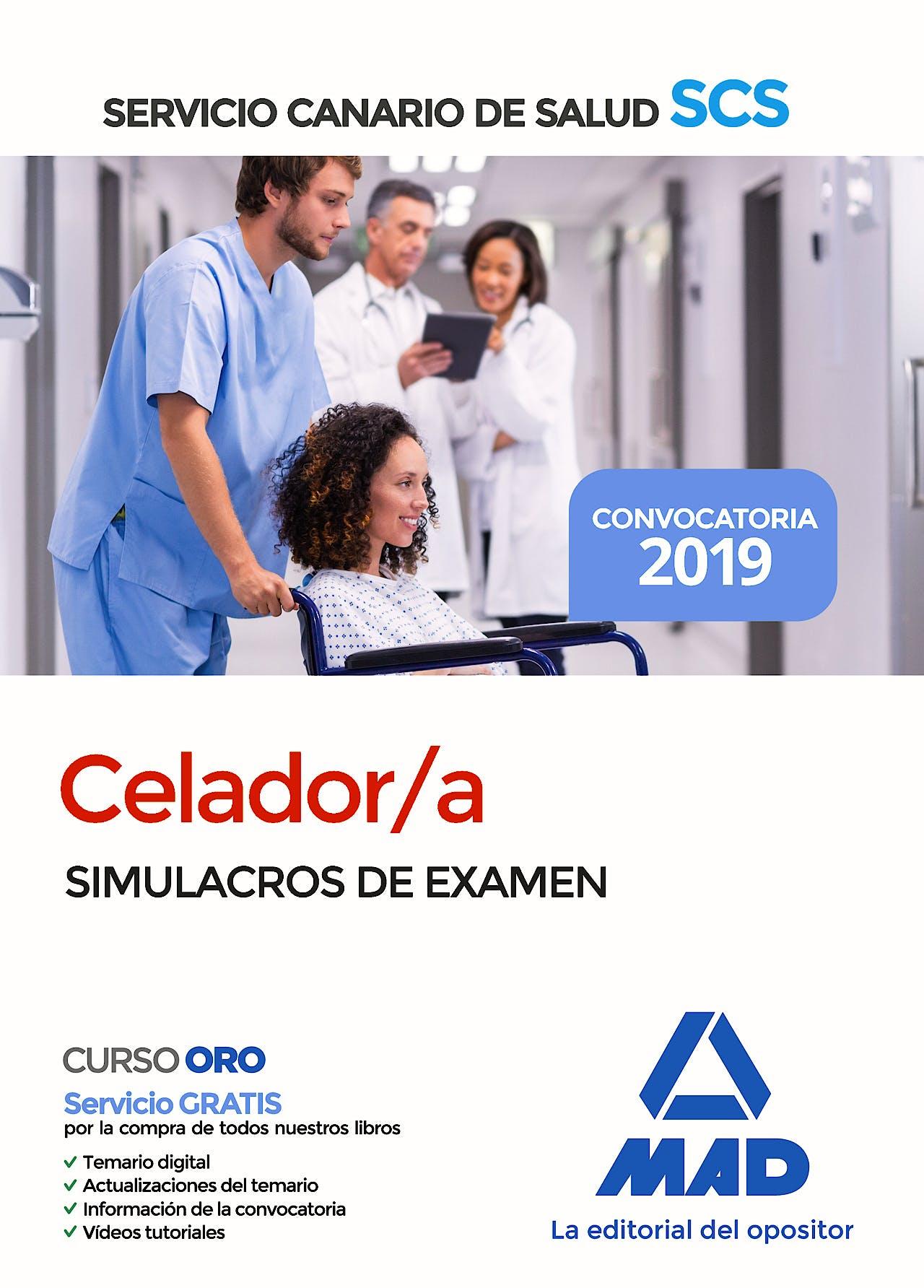 Portada del libro 9788414229712 Celador/a Servicio Canario Salud (SCS). Simulacros de Examen