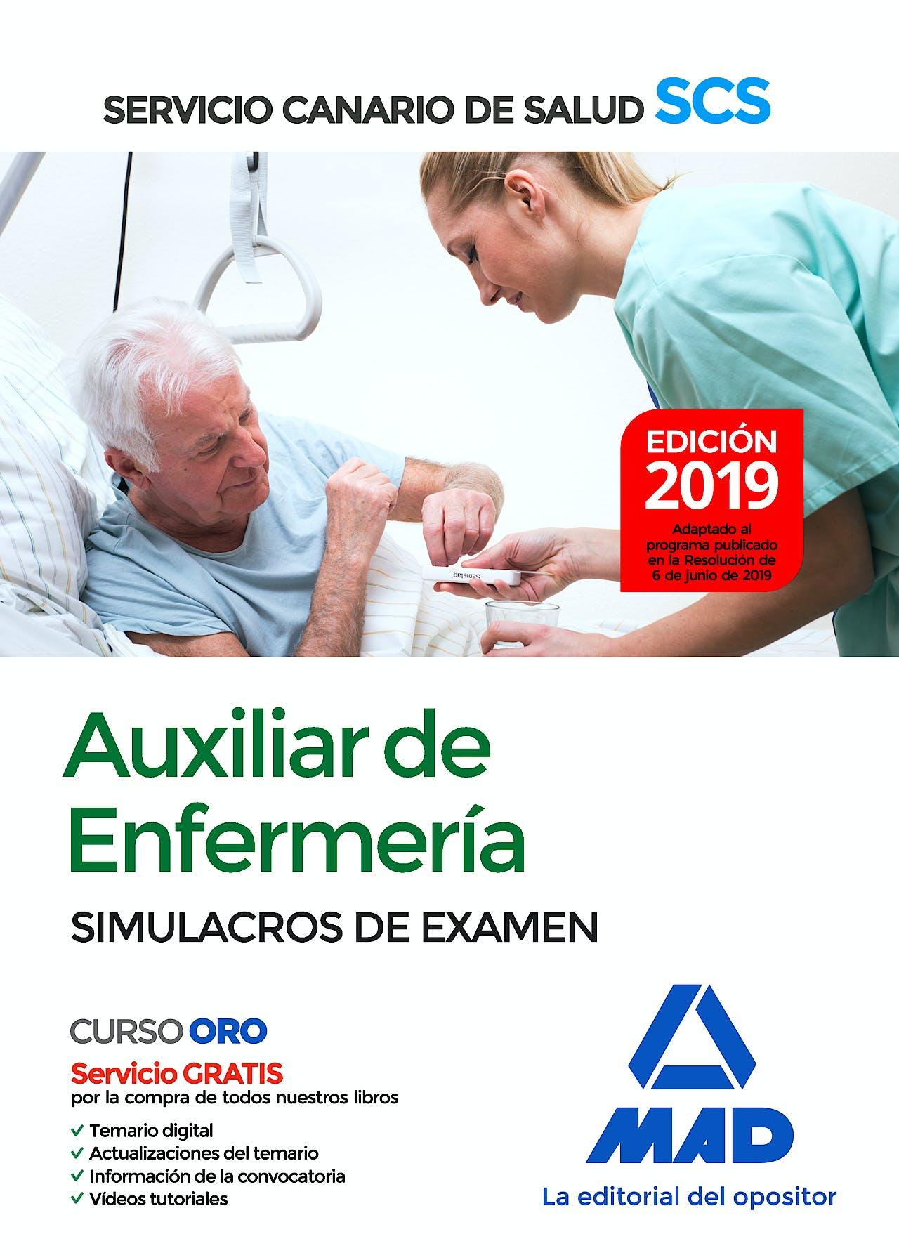 Portada del libro 9788414230374 Auxiliar de Enfermería Servicio Canario de Salud (SCS). Simulacros de Examen