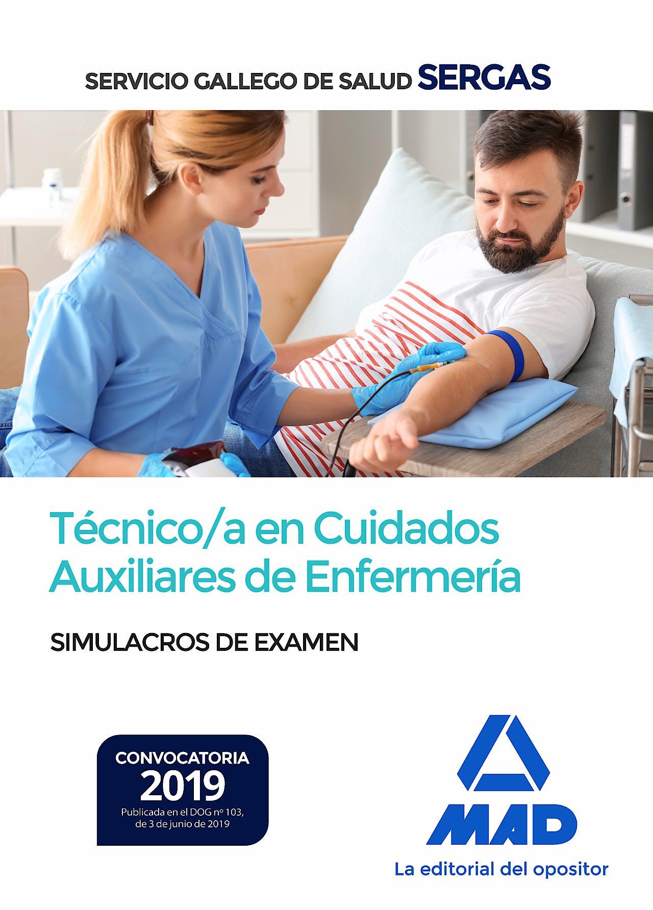 Portada del libro 9788414230381 Técnico/a en Cuidados Auxiliares de Enfermería Servicio Gallego de Salud (SERGAS). Simulacros de Examen