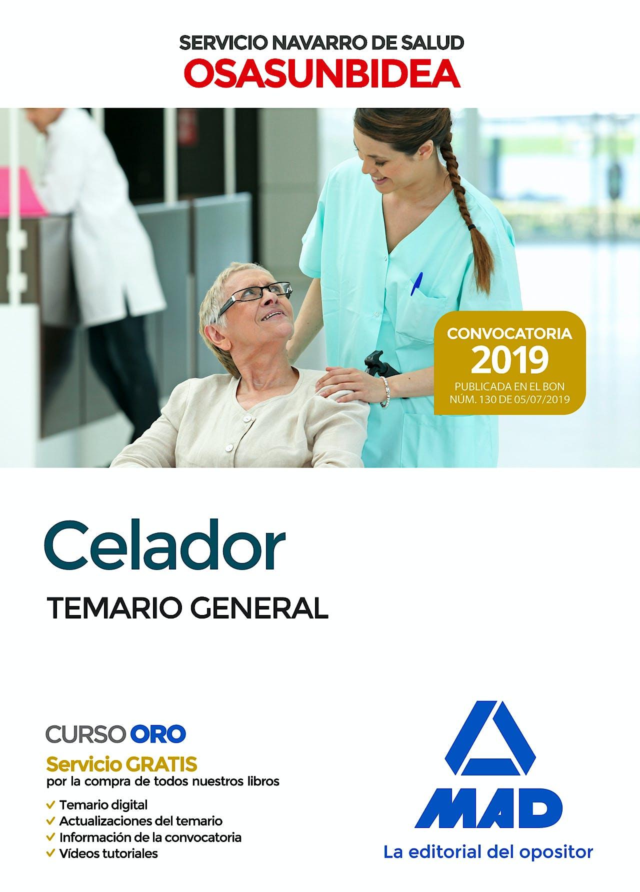 Portada del libro 9788414230534 Celador Servicio Navarro de Salud-Osasunbidea. Temario General