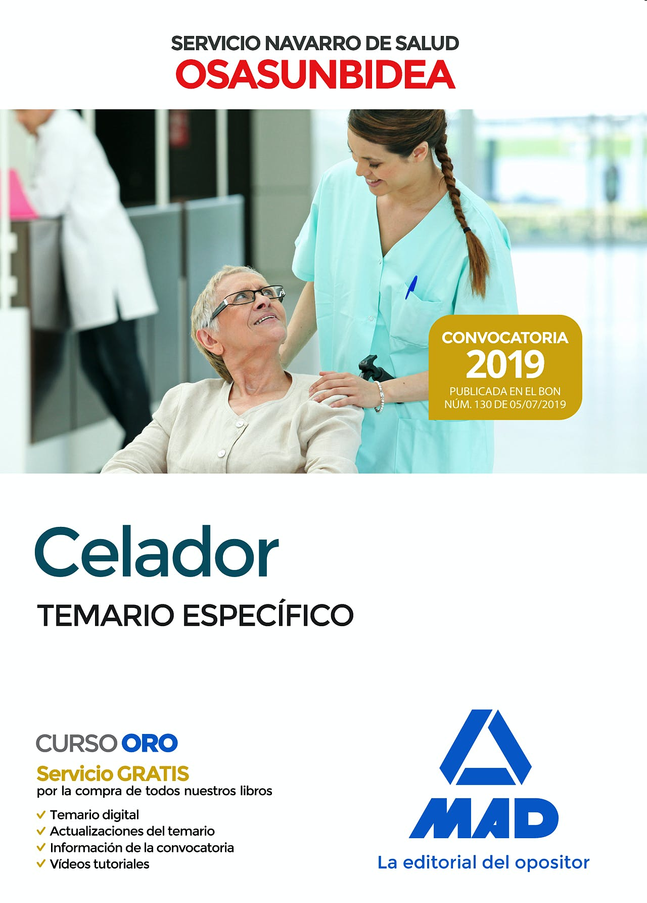 Portada del libro 9788414230541 Celador Servicio Navarro de Salud-Osasunbidea. Temario Específico