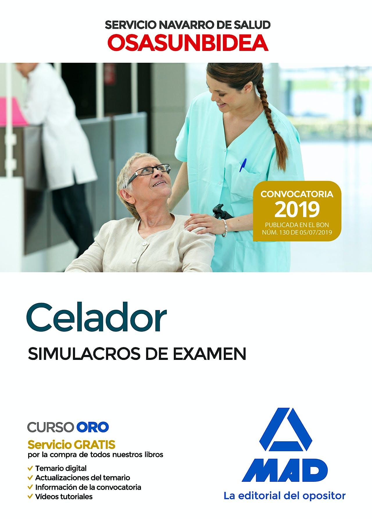 Portada del libro 9788414230565 Celador Servicio Navarro de Salud-Osasunbidea. Simulacros de Examen