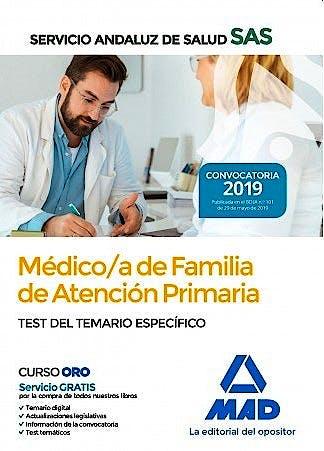 Portada del libro 9788414230954 Médico de Familia de Atención Primaria del Servicio Andaluz de Salud. Test del Temario Específico